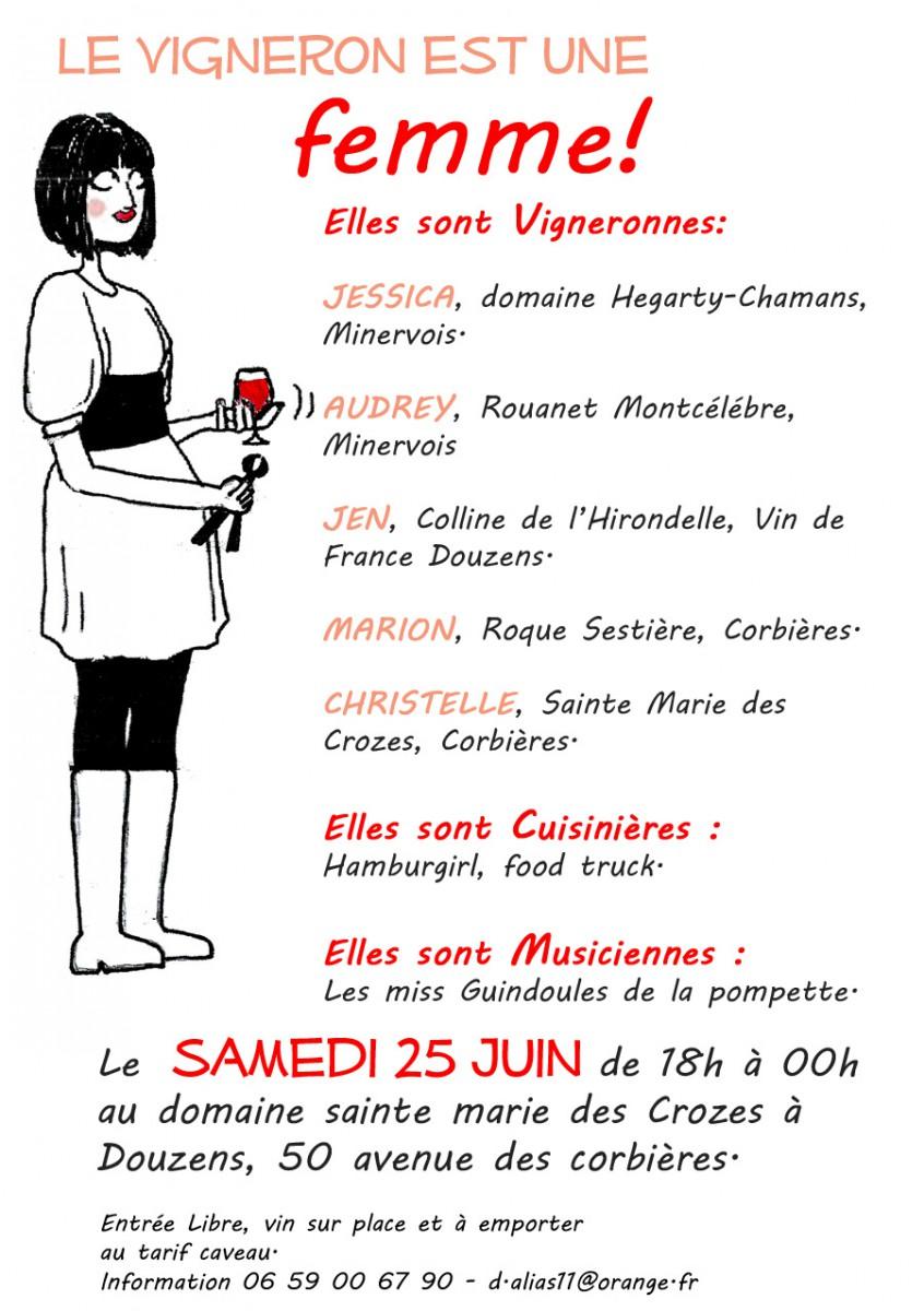 le vigneron est une femme