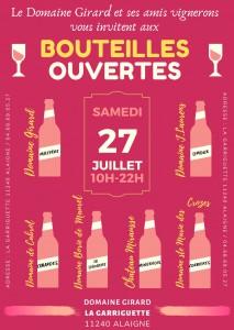 Bouteilles ouvertes 27/07/2019
